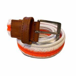 MANFREDI White and Orange Stripe Unisex Belt